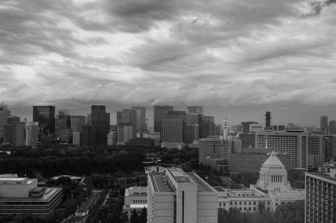 2013 Tokyo Typhoon Sky Over the Kokaigijido