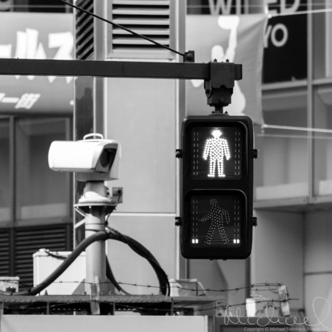 The red man at Shibuya Crossing