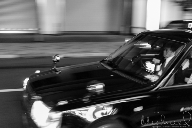 Moving vehicles - taxi in Akasaka